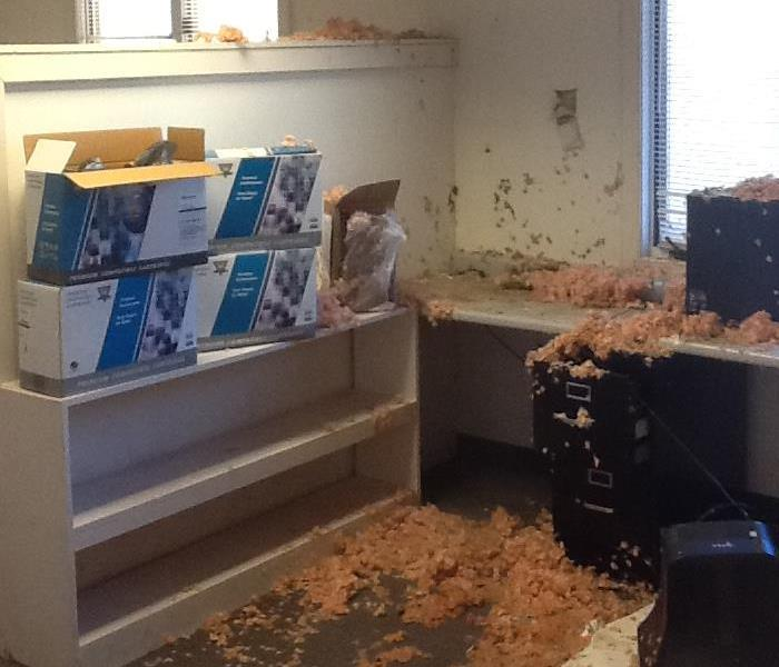 Water Damage – Asheville Office Building Before